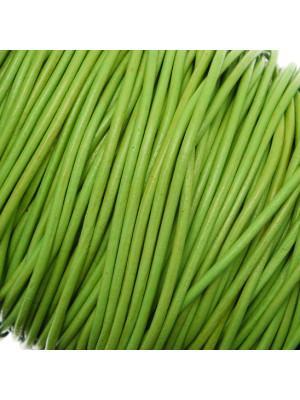 Cordoncino in cuoio colorato, spessore 2 mm., colore Verde Mela