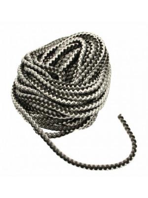 Cordoncino tubolare intrecciato, sintetico, diametro 5 mm., MULTICOLOR, colore Grigio chiaro-Grgio-Grigio scuro-Nero
