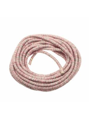 Cordoncino tubolare a maglia, colore MULTICOLOR ROSA-FUCSIA-VERDE