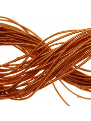 Cordoncino rivestito in viscosa, spessore 1 mm, colore Topazio chiaro