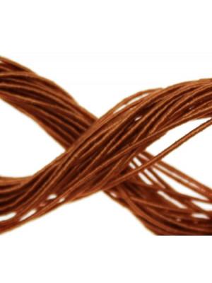 Cordoncino rivestito in viscosa, spessore 1 mm, colore Topazio
