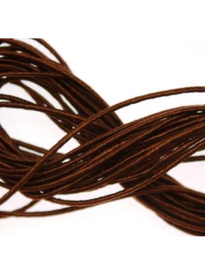 Cordoncino rivestito in viscosa, spessore 1 mm, colore Marrone