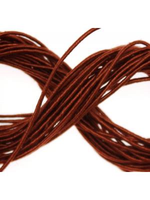 Cordoncino rivestito in viscosa, spessore 1 mm, colore Marrone bronzato