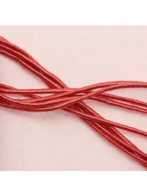 Cordoncino rivestito in viscosa, spessore 1 mm, colore Corallo rosa scuro