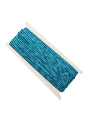 Cordoncino piatto sintetico, (non elasticizzato), alto 3 mm., colore AZZURRO