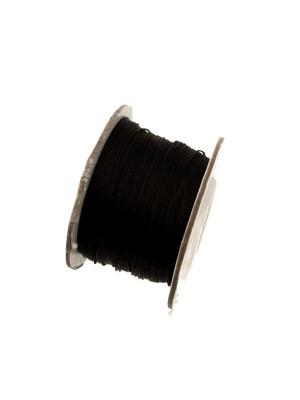 Filo di nylon, spessore 0,5 mm., per infilare perle, colore NERO