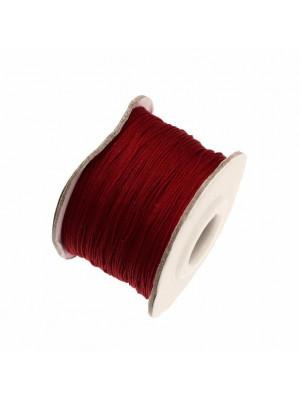 Filo di nylon, spessore 0,5 mm., per infilare perle, colore BORDEAUX