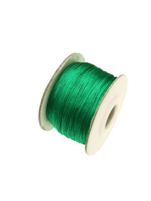 Filo di nylon, spessore 0,5 mm., per infilare perle, colore VERDE SMERALDO