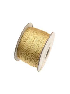 Filo di nylon, spessore 0,5 mm., per infilare perle, colore GIALLO ORO