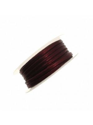 Nastro in lycra tubolare, spessore 5 mm., con cucitura a vista a lato, colore Melanzana metallizzato
