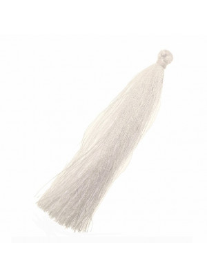 Nappina in poliestere, lunga circa 9,5 cm., colore BIANCO