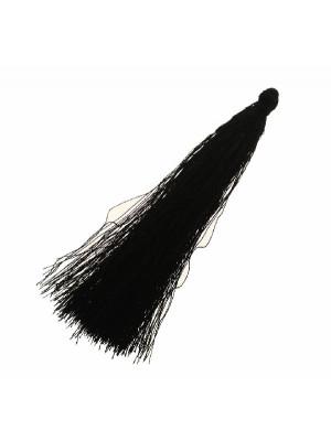 Nappina in poliestere, lunga circa 9,5 cm., colore NERO