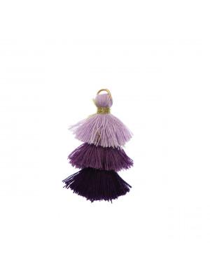 Nappina in cotone, lunghezza 35 mm., colore LILLA - VIOLA CHIARO - VIOLA