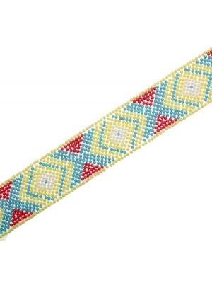 Striscia termoadesiva colore Giallo - Corallo - Turchese - Bianco