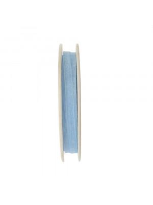 Organza, alta 6 mm., colore Azzurro Chiaro