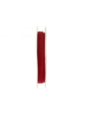 Organza, alta 6 mm., colore Bordeaux
