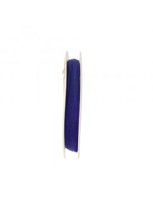 Organza, alta 6 mm., colore Zaffiro