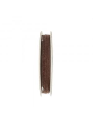 Organza, alta 6 mm., colore Marrone Fumè