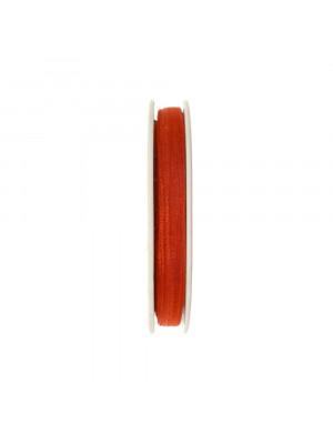 Organza, alta 6 mm., colore Marrone Mattone