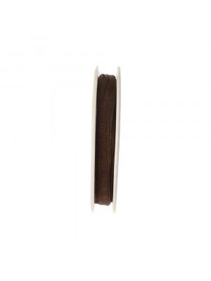 Organza, alta 6 mm., colore Marrone