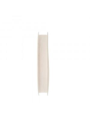 Organza, alta 10 mm., colore Bianco