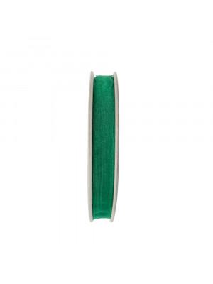 Organza, alta 10 mm., colore Verde Smeraldo Chiaro