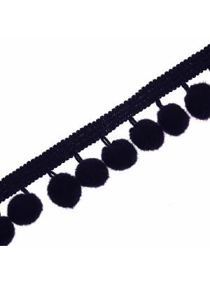 Passamaneria con pon pon (diametro 8 mm.), alta 2 cm., colore BLU SCURISSIMO