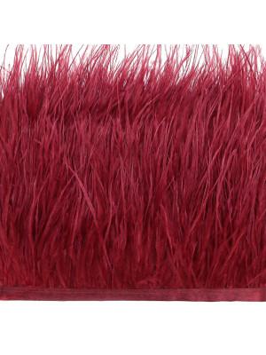 Passamaneria con Piume, altezza 10-12 cm., colore ROSSO SCURO