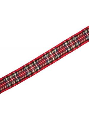 Nastro sintetico scozzese, alto 15 mm., colore ROSSOVERDEBLU