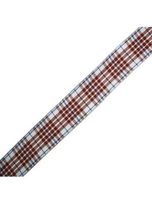 Nastro sintetico scozzese, alto 25 mm., colore MARRONEAZZURROBLU