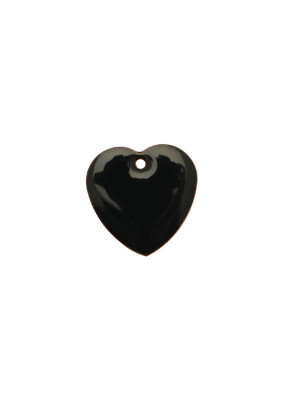 Ciondolo a Cuore, 15x15 mm., smaltato Nero