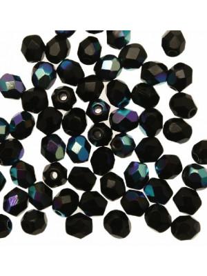 Mezzi cristalli da 4 mm. color Nero AB