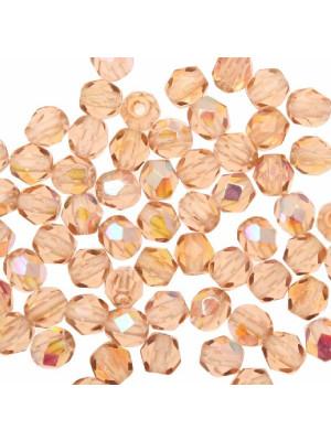 Mezzi cristalli da 4 mm. color Salmone AB