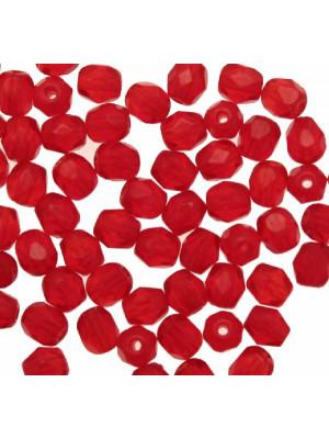 Mezzi cristalli da 4 mm. color Rosso chiaro