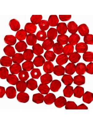 Mezzi cristalli da 4 mm. color Rosso