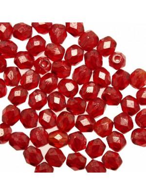 Mezzi cristalli da 4 mm. color Rosso listrato