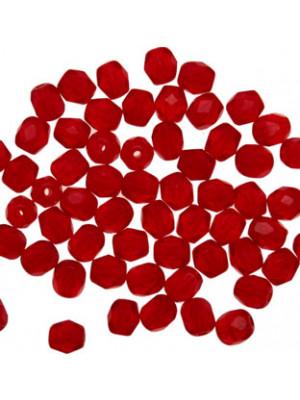 Mezzi cristalli da 4 mm. color Rosso Opale