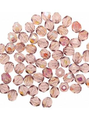 Mezzi cristalli da 4 mm. color Ametista chiara AB