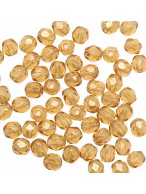 Mezzi cristalli da 4 mm. color Topazio chiaro listrato