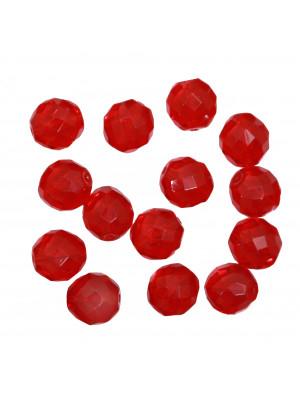 Mezzo cristallo colore Rosso Scuro, 14 mm.