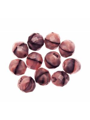 Mezzo cristallo colore Rosa antico sfumato in nero