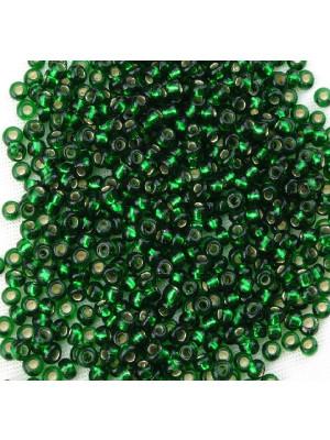 Conteria, misura 2,5 mm. color Verde smeraldo con argento