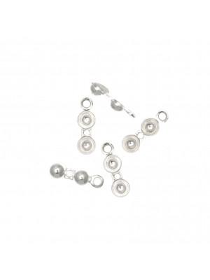 Coppetta chiudi nodo, doppia semi-sfera, anello chiuso, diametro sfera 3,5 mm. Argento 925