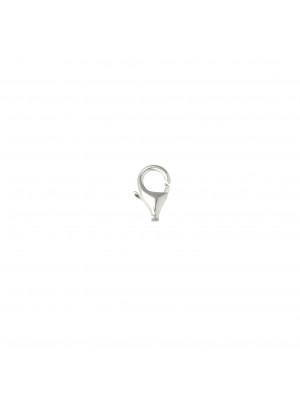 Moschettone a pera senza anello 11x6 mm. Argento 925