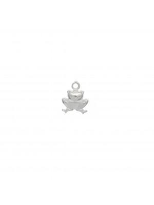 Ciondolo a forma di rana, 8x10 mm. in Argento 925