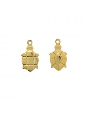 Ciondolo a forma di tartaruga 9x14 mm. in Argento 925
