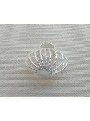 Ciondolo a forma di borsa in filigrana di forma ovale 15x15 mm. in Argento 925