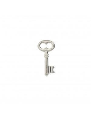 Ciondolo a forma di chiave, 10x20 mm., in Argento 925
