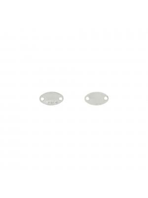 Ciondolo a forma di piastrina ovale con incisione Argento 925 8x4,5 mm. in Argento 925