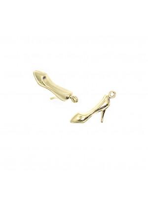 Ciondolo a forma di scarpa con il tacco 17x7 mm. in Argento 925
